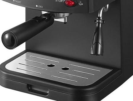 Sirge Cremaexpresso Cafetera, Cafetera Espresso 15 Bares [Bomba Italiana] Capacidad 1.2L, 850 W, Espumador de Leche Para Cappuccino y Doble Removible y Control Tactil, Negro: Amazon.es: Hogar