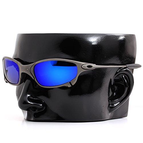 Polarized Ikon Iridium Replacement Lenses for Oakley X-Metal Juliet Sunglasses - Deep Blue Mirror