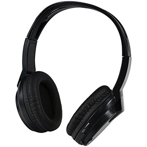 Audiovox Wireless Headphones Single channel IR Faux leather ear piece 2-AAA - Audiovox Headphones Ir