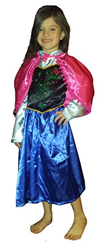 FROZEN Dresses for Kids - Dress Up Costume - Pretend Play (Child-Medium, Anna)