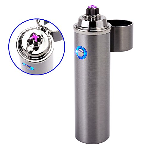 hargeable Splash and Wind Proof Flameless Butane Free Revolutionary Plasma Beam Lighter ()