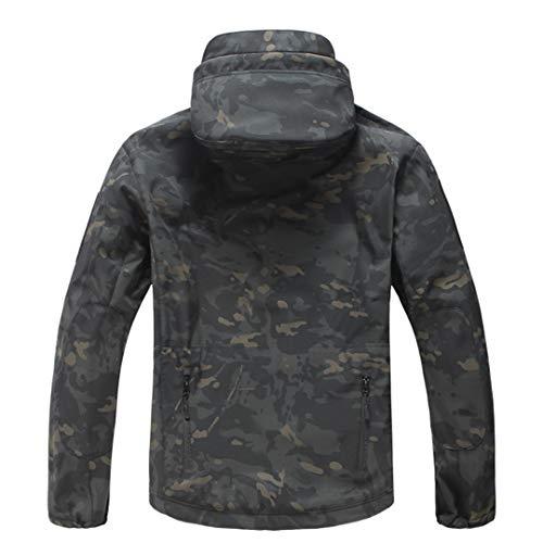 Armée Camouflage Veste Homme Manteau Veste Tactique Militaire d'hiver Randonnée Chasse Softshell Coupe-Vent 5