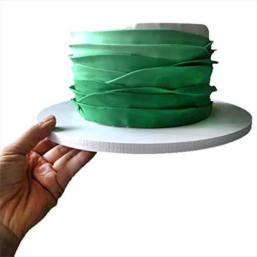JUSTDOLIFE Cake Board Round Grease Proof Foam Cake Base Decoration