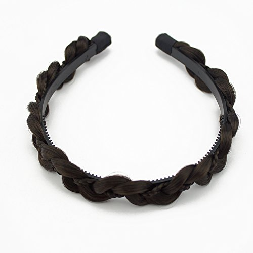 Merrylight Hair Braided Elastic Gripper Headband Drawstring Hair Braid (4 Braid Band)