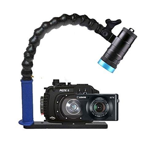Mozaik FAG7XII Underwater Housing AND Canon G7X II Camera w/Kraken Hydra 3500 Video Light