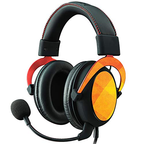 MightySkins Skin Compatible with Kingston HyperX Cloud II Gaming Headset - Orange Texture | Protective, Durable, and Unique Vinyl Decal wrap Cover | Easy to Apply, Remove | Made in The USA