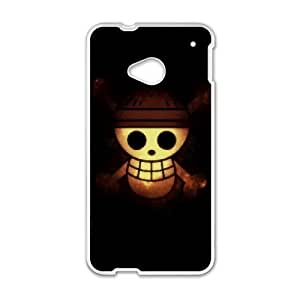 Stylish One Piece Design HTC One M7 Cell Phone Case Funda blanco 5