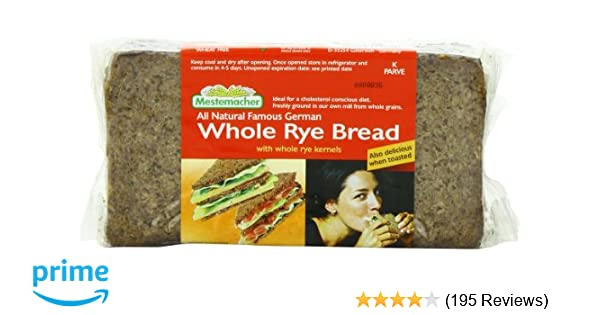 Mestemacher Bread Whole Rye, 17 6-Ounce (Pack of 6): Amazon com