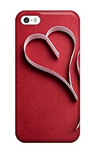 Durable Defender Case For Iphone 5/5s Tpu Cover(love Red)