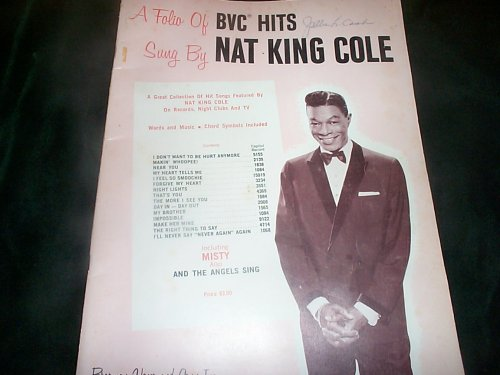 A Folio of BVC Hits sung by Nat King Cole