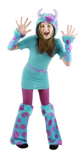Monsters University Kids Deluxe Sulley Costumes (Elope Monsters Child University Sulley Costume Accessory Kit)
