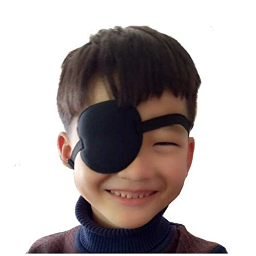 STORE-HOMER - Pirate Eye Patch Halloween Party Black Pirate Costume Accessory Concave Eye Patch 3D Foam Groove Eyeshade Hot Single Eye Patch -