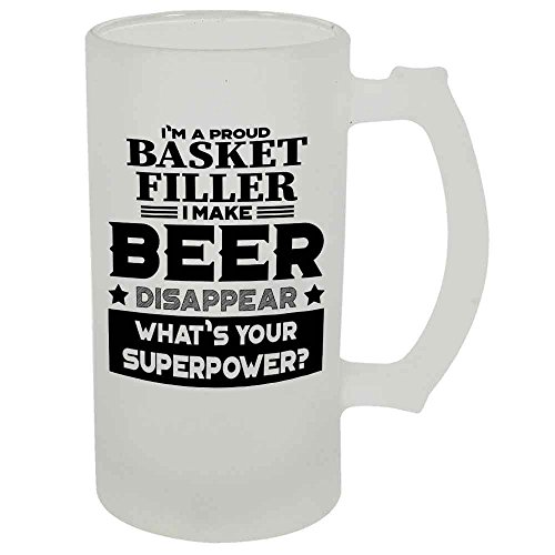 Basket Filler Beer Mug 22 OZ Frosted Matte Finish Premium Quality By HOM Gift For Basket Filler Friend Office Colleague Co-Worker Friend Buddy Present for Beer Lover Him Her Friend Uncle