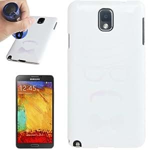 Magic Invisible Fluorescent Effect Plastic Funda Carcasa para Samsung Galaxy Note III + Protector Pantalla Gratis/N9000(White)