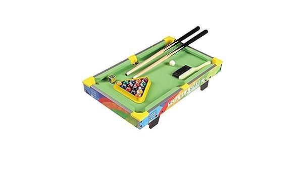 Mini mesas de billar Mesa De Billar Home Desktop Para Niños Pequeño Mini Mesa De Billar Snooker Creativo Regalo De Cumpleaños Para Niños Mesa De Billar (Color : Green , Size :