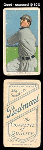 1909 t206 tobacco (baseball) card#270 bill lattimore for sale  Delivered anywhere in USA