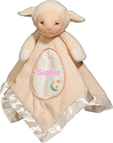 Personalized Sweet Sleepy Little Lamb Snuggler Baby Snuggle Blanket Gift - 13 - Lamb Baby Personalized