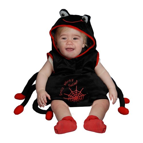 Dress Up America Baby Plush Spider Costume Set, Black, 12-24 Months by Dress Up America