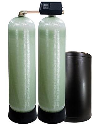 Fleck 9100SXT Dual tank water softener 64k, 64,000 grain with the digital 9100 sxt valve