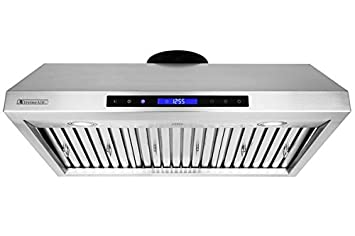 XtremeAir PX12-U30, 30 width, LED Lights, Baffle Filter W Grease Drain Tunnel, 1.0mm Non-Magnetic Stainless Steel, Under Cabinet Mount Hood