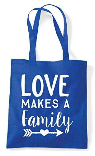 Bag Shopper Makes Love Royal A Tote Blue Family Statement xYXxwqHP