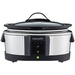 Crock-Pot Wemo Smart Wifi-Enabled Slow Cooker, 6-Quart, Stainless Steel