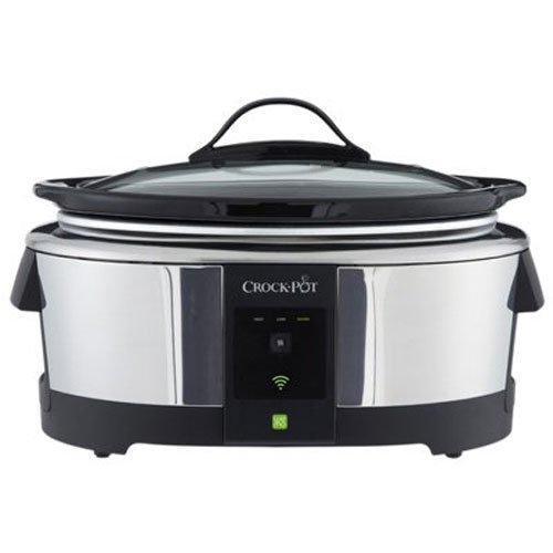 Crock-Pot SCCPWM600-V2 Wemo Smart Wifi-Enabled Slow Cooker, 6-Quart, Stainless Steel