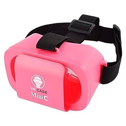 eDealMax Ajustable Mini 3D Virtual caja de realidad Universal VR gafas de Color rosa