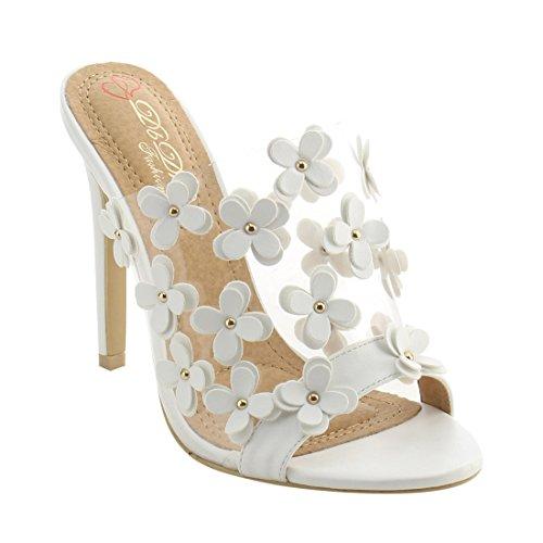 d90a57e9c 85%OFF DBDK AG92 Women s Mule Slip On Floral Stiletto Heels Dress Sandals