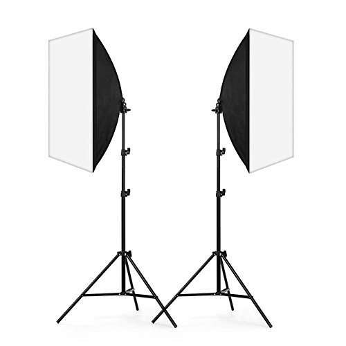 Lightdow Photography Continuous Output Softbox Lighting Kit: [2 pcs] Soft Box / [2 pcs] Photo Bulb / [2 pcs] Light Stand / [1 pc] Carry Bag (Model Number: LD-TZ004)