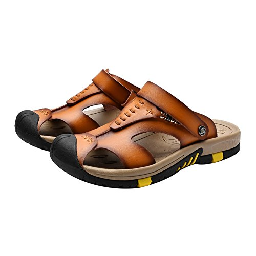 Ankle Mens Sandals Toe With Tan Leather Strap amp;W Closed Moveable H wt5nF8Wqt
