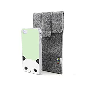 CaseCityLiu - Panda Cute Cartoon Animal Pattern Design Hard Case Cover for Apple iPhone 4 4s 4th 4g 4Generation Come With FREE Non Woven Packing Bag
