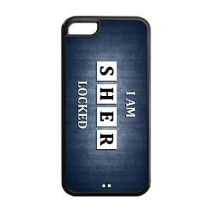 LJF phone case LeonardCustom Protective Hard TPU Rubber Gel Coated Cover Case for iPhone 5C , Sherlock LCI5CU23
