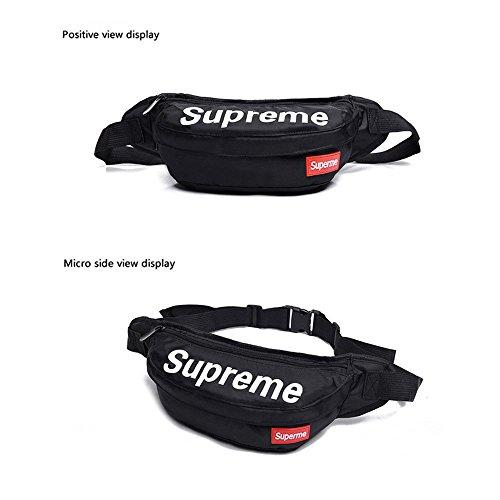 Supreme Fanny Bag Pack Waist Shoulder Style Classic Box Logo (Black) (Supreme Pack)
