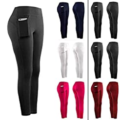POPNINGKS High Waist Yoga Pants with Poc...