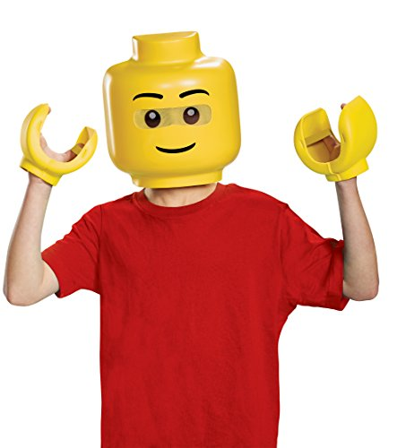 Lego Brick Halloween Costume (Disguise Lego Iconic & Hands Child Costume Kit, One Size)