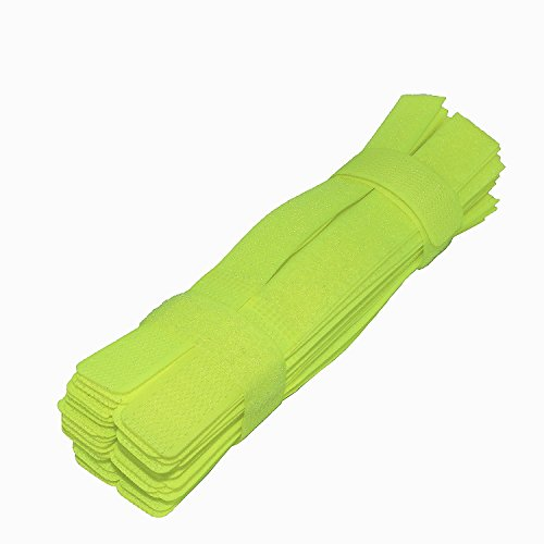 Pasow 50pcs Cable Ties Reusable Wire Straps Fastening Wrap Organizer Cord Rope Holder for Laptop PC TV 7 Inch - Green