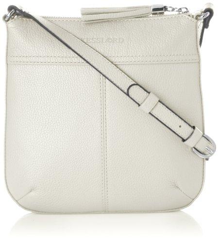 Kesslord Womens Odeline Cross-Body Bag Blanc (Blanc)
