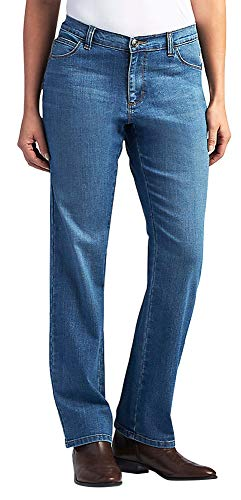 Azul La De Jean Relaxed Mujer Pernera Lee Meridiano Fit Recta 8fq5wqxF