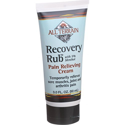 All Terrain Recovery Rub - 3 oz - 5 Percent Menthol - Pain Relieving Cream by All Terrain