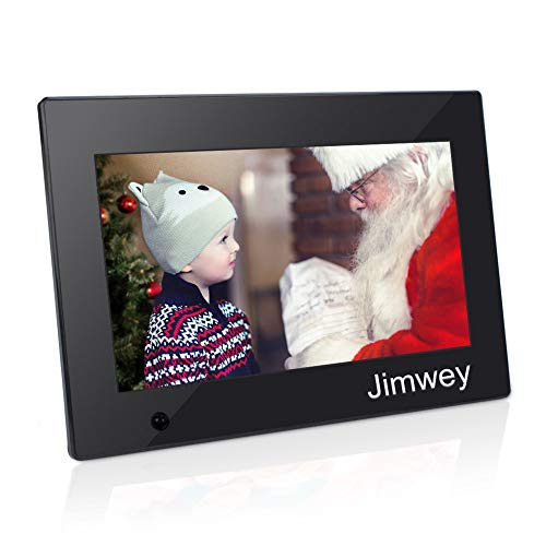 Digital Photo Frame 10 inch Electronic Picture Frame with Motion Sensor Gravity Sensor 1080P HD LCD Display, Video Player/ MP3/ Calendar/Zoom in & Rotate Pictures/Remote Control [Jimwey]