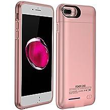 iPhone 7 Plus Battery Case,BIGFOX iPhone 8 Plus/7 Plus Charger Case 4200mAh Magnetic Battery Cases Slim Rechargeable External Battery Pack for iPhone 8 Plus/7 Plus/6S Plus/6 Plus (Rose gold)