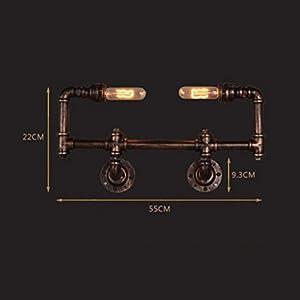 Yxx max Bedroom Wall lamp Studio Pipe Wall Lamp, Industrial Wind Living Room Restaurant Bedroom Bar Creative Wall Lamp
