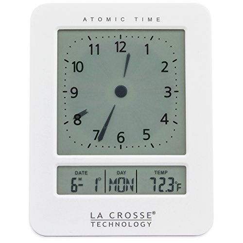 La Crosse Technology 617-1392W Atomic Digital Analog-Style Alarm Clock, ()