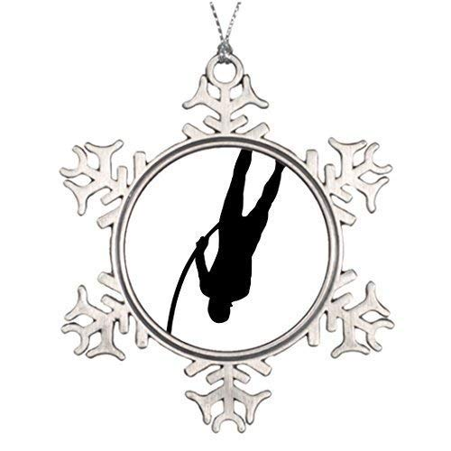 (Snowflake Ornament Christmas Snowflake Ornaments Personalised Christmas Tree Decoration Pole Vaulting Custom Snowflake Ornaments Pole)