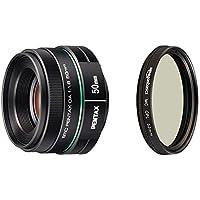 Pentax DA 50mm f1.8 lens for Pentax DSLR Cameras with AmazonBasics Circular Polarizer Lens - 52 mm