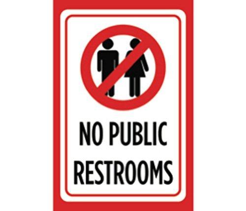 No Aseos públicos impresión rojo negro blanco foto símbolo ...