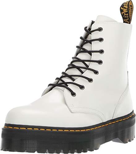 Dr. Martens Mens Jadon 8 Eye Boot, Size: 14 D(M) US / 13 F(M) UK, Color: White Polished Smooth