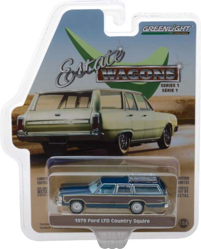 Greenlight 1:64 Estate Wagons Series 1-1979 Ford LTD Country Squire Midnight Blue Diecast Car 29910E