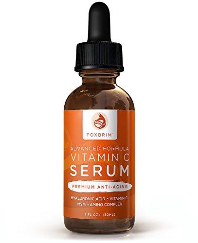 La vitamine C Sérum Visage - BEST Sérum anti-âge - Vegan Acide Hyaluronique et Amino Complex - Premium Sérum Visage pour une belle peau - Natural & Organic - parfait pour tous types de peau - des résultats durables avec garantie incroyable